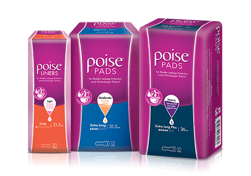 Poise pads and liners for light bladder leakage protection